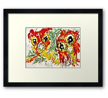 Ricky - Gasmasks - man and woman Framed Print