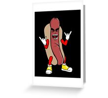 heavy metal hot dog Greeting Card