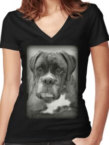Is That For Me?.... Boxer Dogs Series  Women's Fitted V-Neck T-Shirt