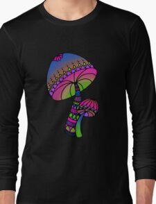 Shrooms - pink/blue/green/purple Long Sleeve T-Shirt