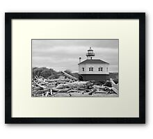 Oregon coast lighthouse Framed Print