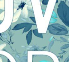 JW.org on Blue Vintage Floral Pattern Sticker