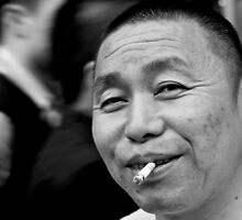 An inquisitive man in Shanghai by michswiss