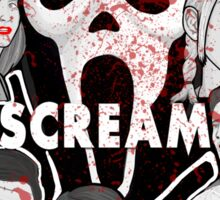 Scream character collage Sticker