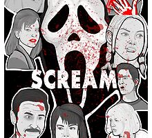 Scream character collage by gjnilespop