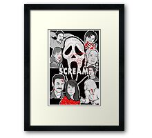 Scream character collage Framed Print