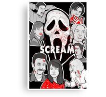 Scream character collage Canvas Print