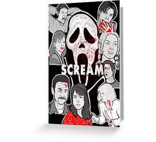 Scream character collage Greeting Card
