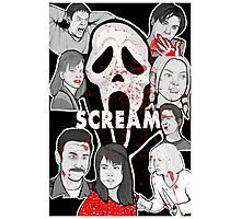 Scream character collage Photographic Print