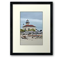 Oregon coast lighthouse Framed Print
