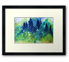 Tree Series - The Pine Trees by Heather Holland Framed Print