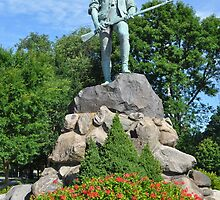 Minuteman Statue at Battle Green,  April 19, 1775 by Shelby  Stalnaker Bortone