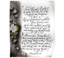 Two things I ask Proverbs verse calligraphy art  Poster