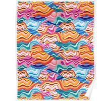 abstract pattern wave Poster