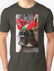 Reindeer This Year?...... Anything For That Cookie! - Boxer Dogs Series Unisex T-Shirt