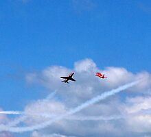 The Red Arrows cross by iLaw