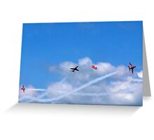 The Red Arrows cross Greeting Card