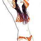 Stripey Bikini by Richard Long