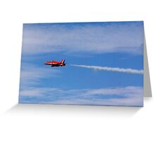 The Lone Red Arrow Greeting Card