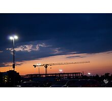 Sunset Construction Photographic Print