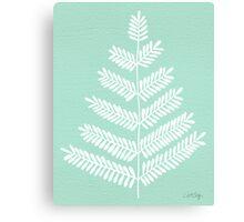 Mint Leaflets Canvas Print