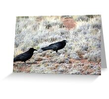 Common Ravens Greeting Card