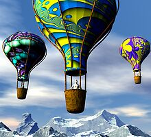 Balloon Adventure by Sandra Bauser Digital Art
