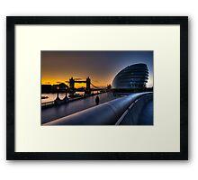 Southbank Sunrise: London, UK Framed Print