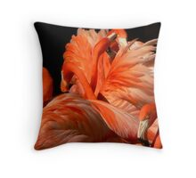 A Bouquet of Fluffy Flamingoes Throw Pillow