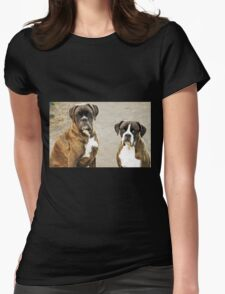 Luthien & Arwen -Boxers Dogs Series- Womens Fitted T-Shirt