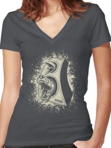 Vintage birDog Women's Fitted V-Neck T-Shirt