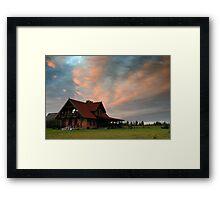 House in village Framed Print