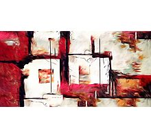 Abstract Square Lines Oil Painting Photographic Print