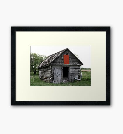 Old Log Cabin on the Prairies Framed Print