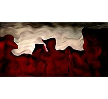 Red Warp Abstract Oil Painting Photographic Print