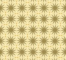 Gold Abstract Flowers by Lena127