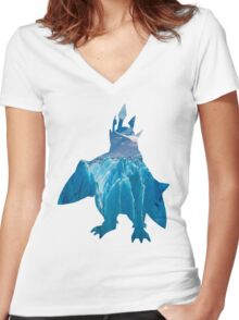 Empoleon used blizzard Women's Fitted V-Neck T-Shirt