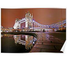 Reflections of Tower Bridge - London Night Poster
