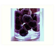 Berry Purple Art Print