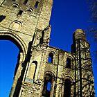 Kelso Abbey In Scotland. by Aj Finan