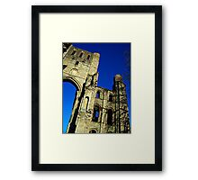 Kelso Abbey In Scotland. Framed Print