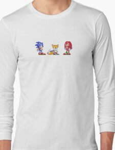 Sonic, Tails, and Knuckles Long Sleeve T-Shirt