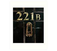 221B - door Art Print