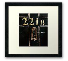 221B - door Framed Print