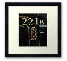 221B - door Framed Print