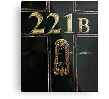 221B - door Metal Print