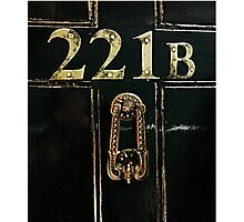 221B - door Photographic Print