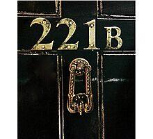 221B - door Photographic Print