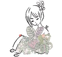 Sitting In Flowers by lilbiscuit