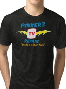 Pinker's TV Repair Tri-blend T-Shirt